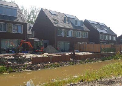 Damwand plaatsen 2 woningen te Rotterdam