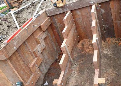 Damwand met vlonder woning nummer 5 nieuwbouwwijk Rijnvaert Oegstgeest